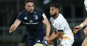Lima Sopoaga during Wasps' Champions Cup defeat to Leinster last October. Photograph: Billy Stickland/Inpho