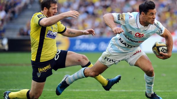 Dan Carter in action for Racing 92 against Clermont in 2017. Photograph: Franck Pennant/AFP/Getty