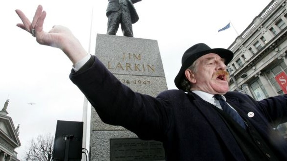Best know for his portrayal of trade unionist Jim Larkin, Mr O'Leary appeared in 42 films. Photograph: Cyril Byrne