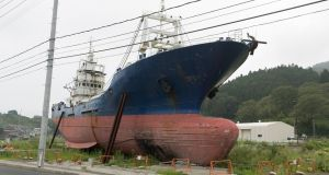 A fishing boat which was washed inland by the 2011 tsunami in Japan. Photograph: iStock