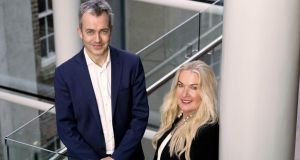Leo Casey, head of BGF in Ireland, and Amanda Torrens, founder of Brindley Healthcare.