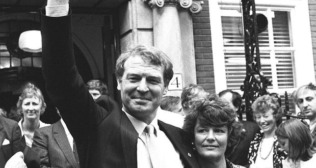 Paddy Ashdown, with his wife Jane, on the day he was elected the leader of the new Social and Liberal Democratic Party. Photograph: PA Wire