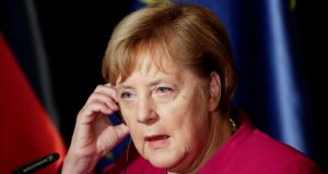 German chancellor Angela Merkel: data hacked includes information such as mobile phone numbers, photos of IDs and personal chat histories. Photograph: David W Cerny/Reuters