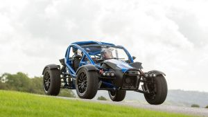 The Ariel Nomad relies on rear-wheel drive, chunky tyres, and low weight to keep itself mobile when the going gets slippery or sandy
