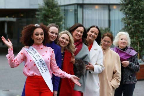 At the launch of of the search for the next Rose of Tralee were: 2018 Rose of Tralee Kirsten Mate Maher, 2009 Rose of Tralee Charmaine Kenny (London Rose);  1999 Rose of Tralee Gerrie O'Grady (Cork Rose); 1989 Rose of Tralee Sinead Boyle (Dublin Rose); 1979 Rose of Tralee Marita Marron (Belfast Rose); 1969 Rose of Tralee Cathy Quinn (Dublin Rose) and the first Rose of Tralee from 1959, Alice O'Sullivan (Dublin Rose).  Photograph: Nick Bradshaw/The Irish Times