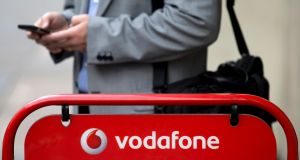 Accounts filed recently for Vodafone Retail Ireland recorded the drop in sales to €74.6 million in the year to the end of last March. Photograph: Justin Tallis/AFP/Getty Images