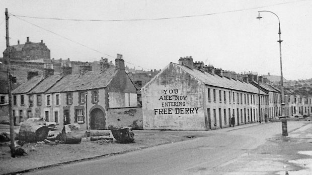 Free Derry Corner in 1969. Photograph: courtesy of Frankie McMenamin