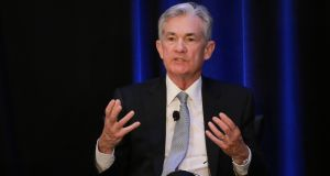 Jerome Powell, chairman of the US Federal Reserve, made it clear he would not resign if US president Donald Trump asked him to step aside. Photograph: Elijah Nouvelage/Bloomberg