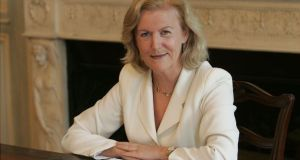 Former Irish ambassador to the US Anne Anderson, who stepped down  in 2017, stipulated that she be welcomed into the Friendly Sons of St Patrick association as a full member and not just in an honorary capacity. File photograph: Alan Betson