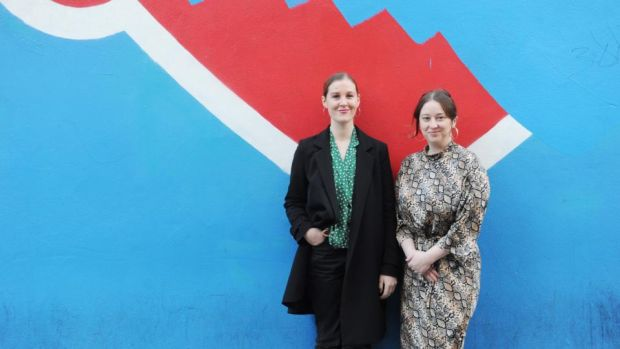 ACTIVISM: Anna Cosgrave and Karen Twomey of Motsbox. Photograph: Aidan Crawley