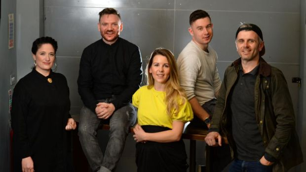 FOOD: Laura Caulwell, Niall Davidson, Lisa Cope, Jack Lenards and Eoin Cluskey. Photograph: Dara Mac Dónaill