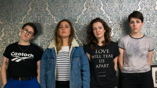 MUSIC: The Pillow Queens write songs 'with charming familiarity'.