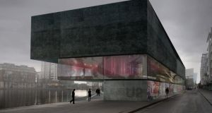 The proposed U2 visitor centre at Hanover Quay in Dublin's south docklands.