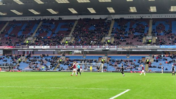 Magic of the cup? There were a lot of empty seats as Burnley took on Barnsley. Photo: Dave Howarth/PA Wire