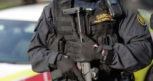 The Garda Armed Support Unit was on duty in Rathkeale, Co Limerick over Christmas.  Photograph: Dara Mac Dónaill