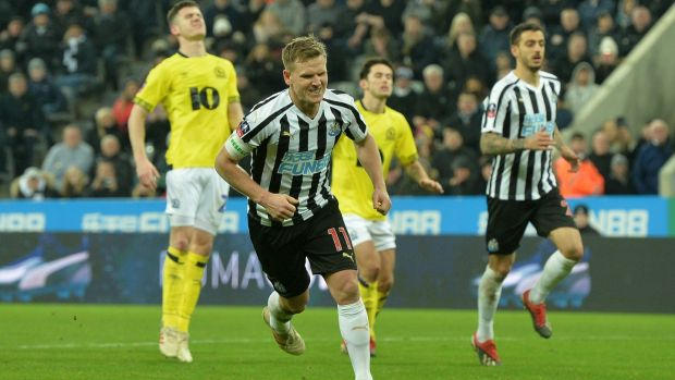 Matt Ritchie salvaged a late draw for Newcastle at home to Blackburn. Photograph: Mark Runnacles/Getty