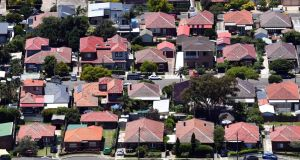 Compared with their 2017 peak, house prices in Sydney  have now dropped 11.1 per cent. Photograph: Mick Tsikas/EPA