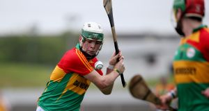 Marty Kavanagh guided Carlow to Walsh Cup victory over Offaly. Photograph: Ryan Byrne/Inpho