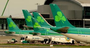 Repainting Aer Lingus's 50-odd aircraft would be the most expensive element of the airline's rebranding exercise. Photograph: Cyril Byrne