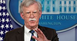 "President Donald Trump's national security adviser John Bolton: ""The primary point is we are going to withdraw from northeastern Syria."" Photograph: Kevin Lamarque"
