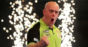 Michael Van Gerwen won £500,000 on New Year's Day for collecting the PDC title. Photograph: Steven Paston/PA Wire
