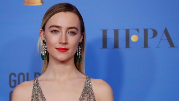 Saoirse Ronan at the 76th Golden Globe Awards in Beverly Hills, California. Photograph: Mario Anzuoni/Reuters