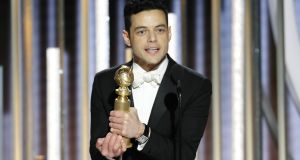 Best drama actor, Remi Malek: 'Thank you to Freddie Mercury, for giving me the joy of a lifetime.' Photograph: Paul Drinkwater/AP