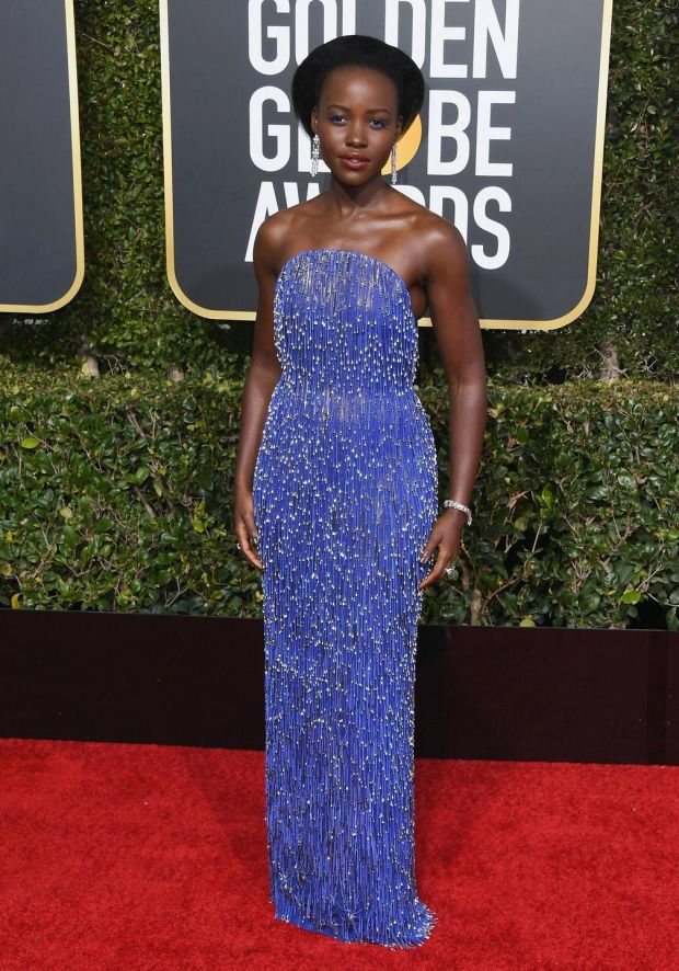Lupita Nyong'o in Calvin Klein by Appointment. Photograph: Jon Kopaloff/Getty Images