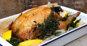 Thyme-roasted chicken with preserved lemon