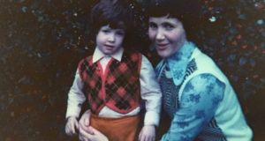 Quentin Fottrell as a little boy with his mum