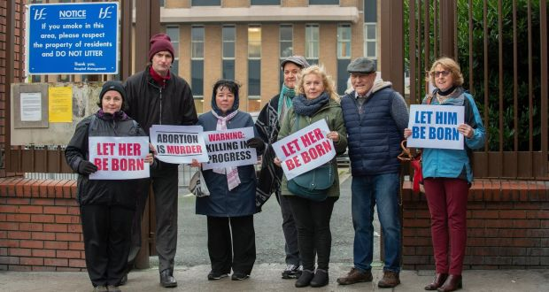 Campaigners protest at Drogheda hospital over 'first abortion'