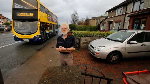 """It's hard enough now, if they take the garden I won't be able to get the car in,"" says Donnycarney resident Joseph Jordan of the BusConnects plan. Photograph: Nick Bradshaw/The Irish Times"