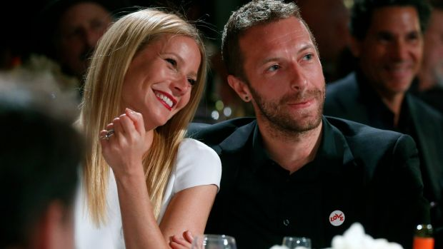 Gwyneth Paltrow with her ex-husband Chris Martin. They 'conciously uncoupled' in 2014. Photograph: Colin Young-Wolff/Invision/AP