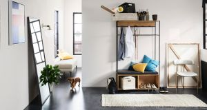 Hall stand and bootroom storage from West Elm