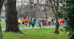 Tralee Town park run  in Co Kerry. Young and not so young from around the area participate in the weekly 2km junior park run which starts at 9.30am on a Sunday. Photograph: Domnick Walsh