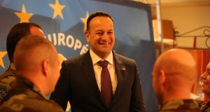 Taoiseach Leo Varadkar meets Irish troops in Mali during his visit to Africa.