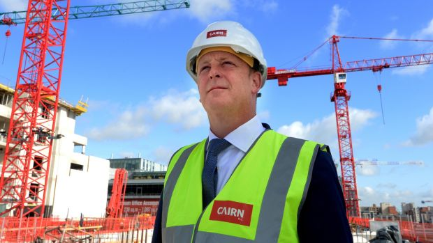 Cairn Homes chief executive Michael Stanley, pictured at a development in Dublin's docklands. Photograph: Cyril Byrne