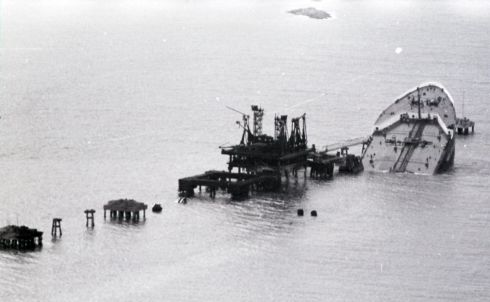 The wreck of the French tanker Betelgeuse. Photograph: Paddy Whelan