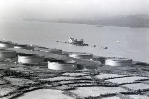Scene of the Whiddy Island oil terminal disaster. Photograph: Paddy Whelan/The Irish Times