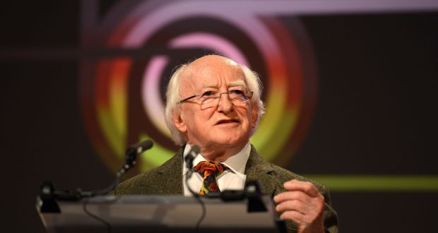 There will be an address from President Michael D Higgins in the Round Room of the Mansion House. Photograph: Cyril Byrne/The Irish Times