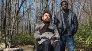 The Upside: Bryan Cranston and Kevin Hart. Photograph: David Lee