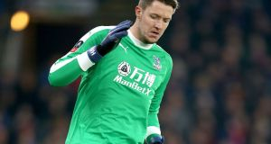 Crystal Palace goalkeeper Wayne Hennessey during his team's FA Cup third round match at Selhurst Park. Photograph: PA