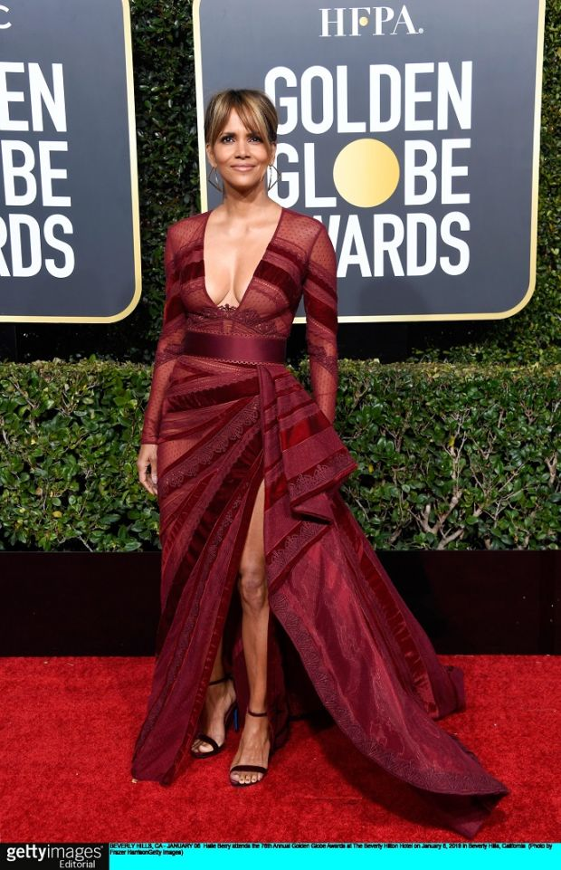 Halle Berry at the Golden Globe Awards at The Beverly Hilton Hotel at the weekend. Photograph: Frazer Harrison/Getty Images