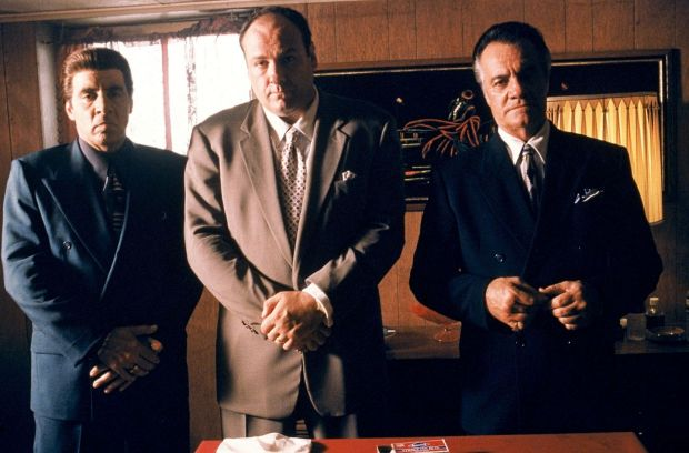 The Sopranos: Steven Van Zandt as Silvio Dante, James Gandolfini as Tony Soprano and Tony Sirico as Paulie Walnuts. Photograph: HBO