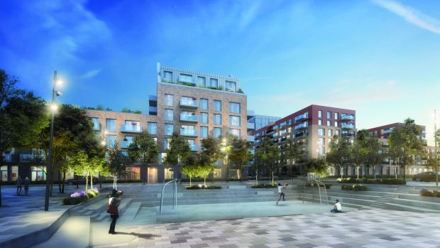 "CGI of Belgard Gardens, Tallaght: Property developer Marlet describes the project as a ""new urban quarter"" for Tallaght"