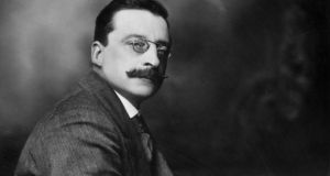 Irish journalist, founder of Sinn Fein and chief negotiator of the Irish Treaty Delegation, Arthur Griffith (1872 - 1922). Photograph: Hulton Archive/Getty Images