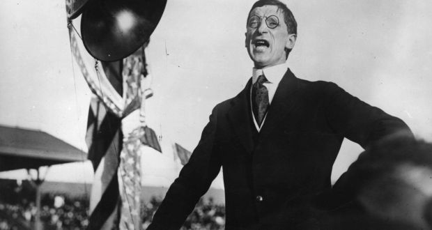 Eamon De Valera addressing a meeting in Los Angeles on his US tour as president of Dail Eireann. Photograph: Hulton Archive