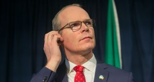 Tánaiste  Simon Coveney said a decision on an extension to the March 29th withdrawal date is  a matter for the British government. Photograph: Gareth Chaney/Collins