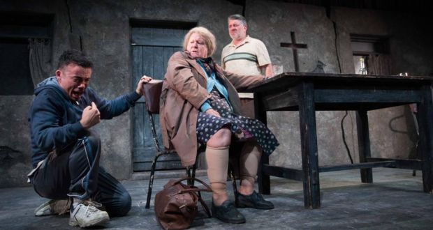 A Skull in Connemara: Jarlath Tivnan, Maria McDermottroe and Pat Shortt in Decadent Theatre Company's 2018 production of Martin McDonagh's play. Photograph: Darragh Kane
