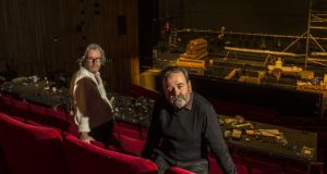 Abbey controversy: Graham McLaren and Neil Murray, its joint directors, at the theatre just before they took over, in January 2017. Photograph: Dara Mac Dónaill